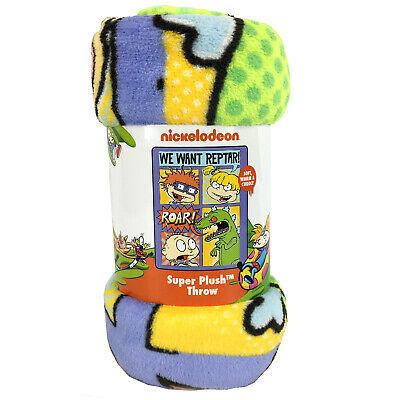 New Rugrats Chuckie Reptar Super Plush Soft Micro Raschel Throw Blanket - Raschel Plush Throw