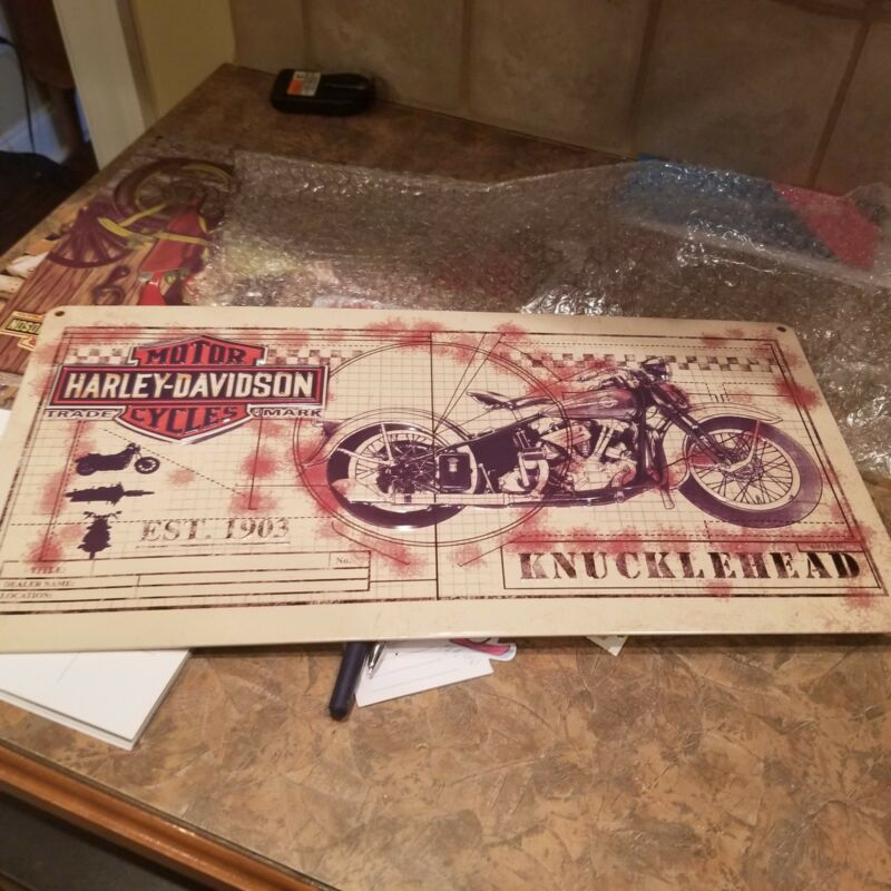 HARLEY DAVIDSON KNUCKLEHEAD SIGN ANDE ROONEY EDITION NUMBERED