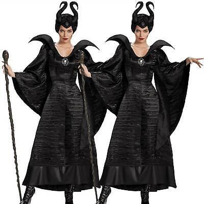 Erwachsene Maleficent Deluxe Böse Königin Cosplay Kostüm Outfit - Halloween Kostüme Maleficent'