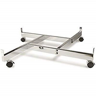 Only Hangers 4-way Gridwall Panel Base With Casters- Chrome