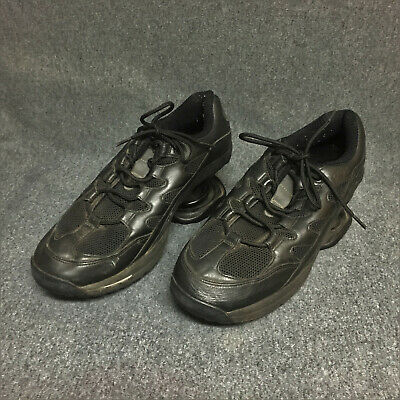 Z-COIL SPRING MEN'S BLACK LEATHER COMFORT SHOES US SIZE 11 M VERY GOOD