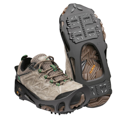 PSQ Ice Cleats Walk Traction Cleats with a Pair of Velcro Straps and a Storage Bag