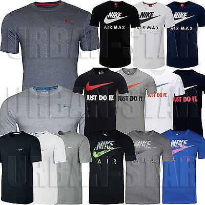New Mens Nike Grey Retro Gym Sports Tee T-Shirt Vintage Top Size S M L XL