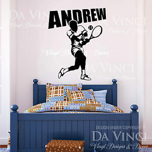 player wall room personalized custom name vinyl wall decal sticker