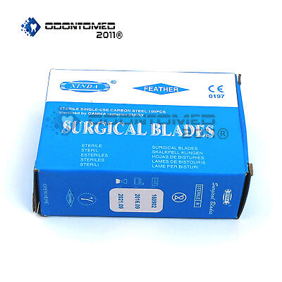 100 Surgical Scalpel Blades 15 Carbon Steel Sterile 25kgy Sterility Guaranteed