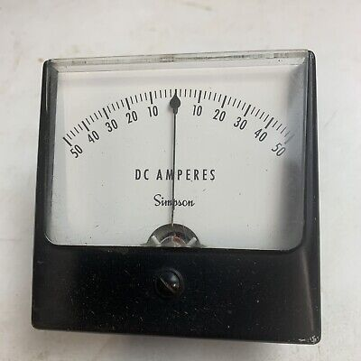 Vintage Simpson Dc Amperes Meter
