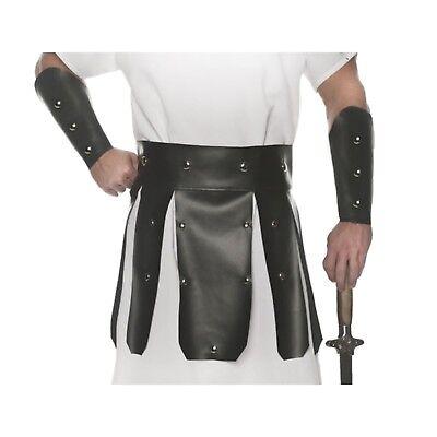 Roman Costume Armor (Adult Belt Gauntlet Armor Halloween Costume Gladiator Roman Soldier Spartan 300)