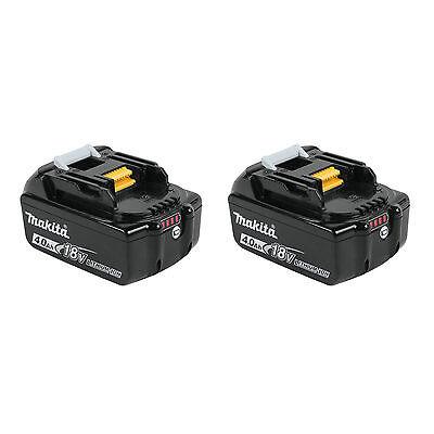 Makita 2pk 18V LXT 4.0AH Lithium-Ion Battery BL1840B-2 New WITH LED GUAGE!!
