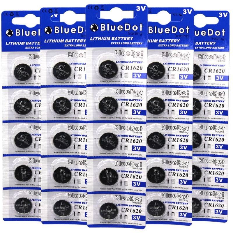25 CR1620 CR 1620 DL1620 BR1620 3 Volt Lithium Button Cell Battery US Ship USA