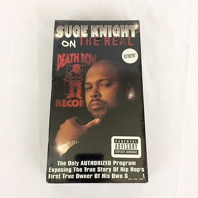 Suge Knight On The Real VHS Sealed Death Row Records Promo Tupac Dr. Dre Hip Hop