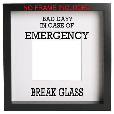 Case Emergency Break Glass (In case of emergency break glass Box Frame Sticker Vinyl Decal. Ikea Ribba)
