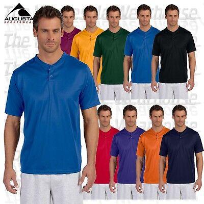 Augusta Sportswear Men's Performance 2 Button Henley Sports S-4XL T-Shirt M426 Augusta Sportswear Henley