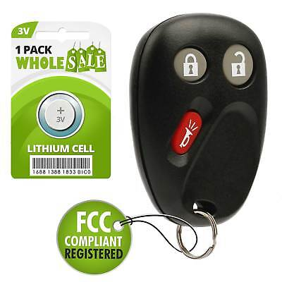 Replacement For 2003 2004 2005 2006 2007 GMC Sierra 1500 2500 Key Fob Remote