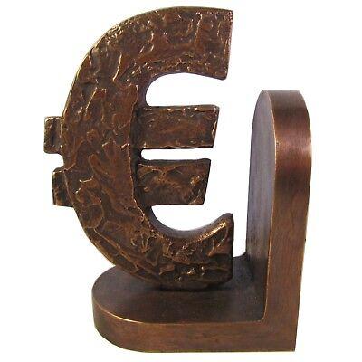 Euro Bookend (Buchstütze Eurozeichen Bronze massiv bookend Euro)