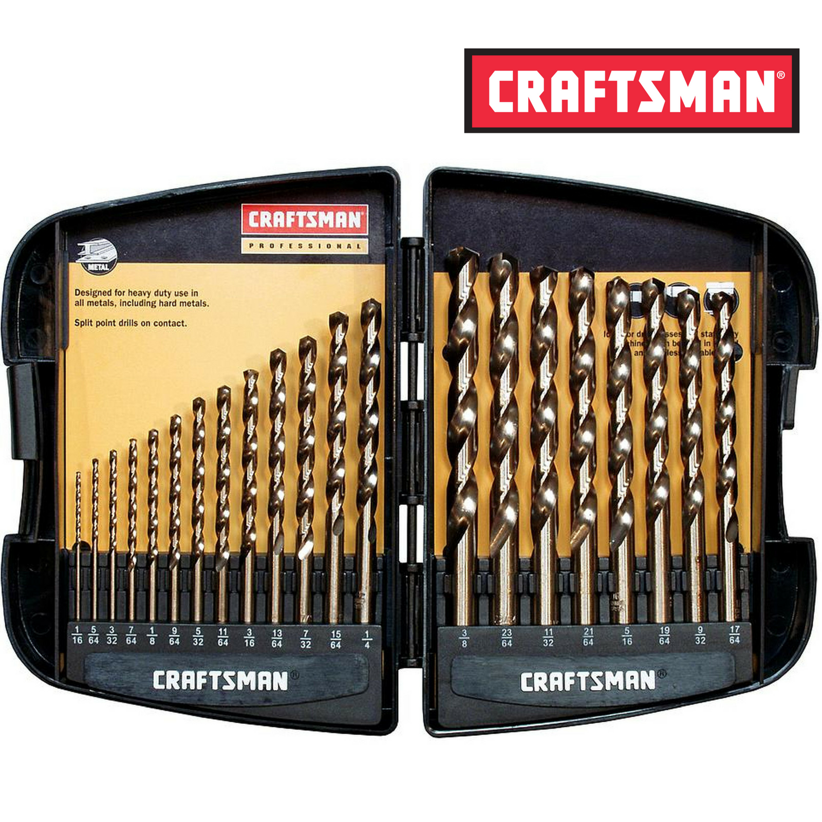 Craftsman 9-64085 Professional Cobalt Drill Bit Set, 21 Piec