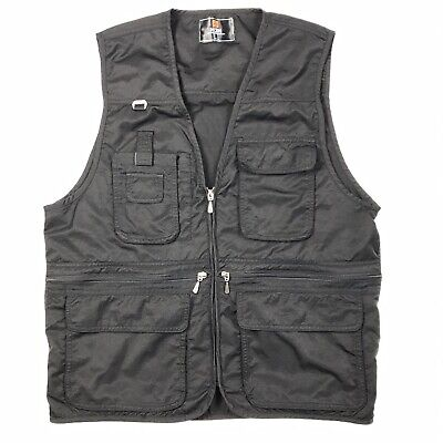H2H BLACK Casual Work Utility Hunting Travels Sports Vest Multiple Pockets, -