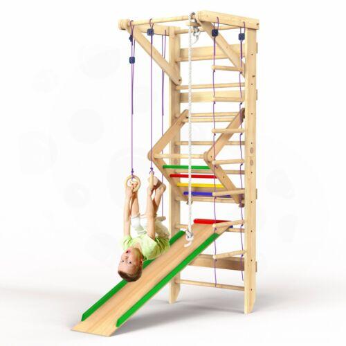 Wooden Swedish Ladder Wall Set – Kids Stall Bars for Exercise – SPORT-3
