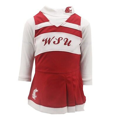 Washington State Cougars NCAA Baby Infant Size Girls 2 Piece Cheerleader Outfit