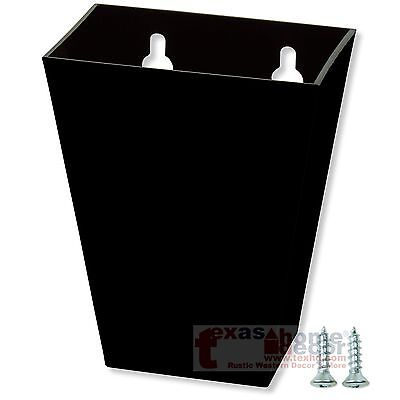 Tall Black Plastic CAP CATCHER for Starr X Bottle Openers Wall Mounted + SCREWS (Starr Wall Mounted Bottle Opener)