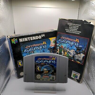 JET FORCE GEMINI NINTENDO 64 N64 PAL GAME BOXED COMPLETE WITH MANUAL