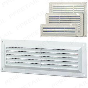 Air Vent Louvred Cover With Fly Screen Fits Single Double