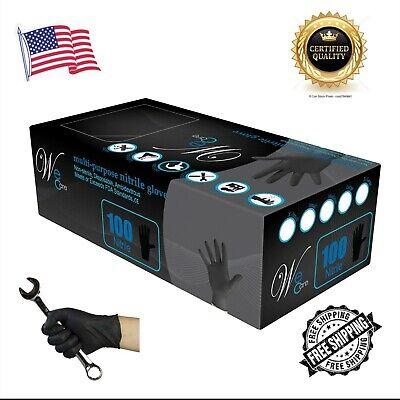 We Care Black Nitrile Glove Latex Free Powder Free 4 Mil Med Lg Xl 100 Pcs