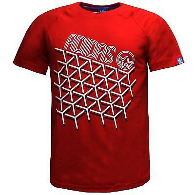 Adidas Mens Isometric L Tee Short Sleeve Casual T-Shirt Red AJ9170