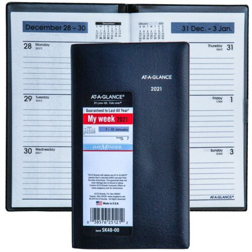 2021 At-A-Glance DayMinder SK48-00 Weekly Pocket Planner, 3-5/8 x 6-1/16""