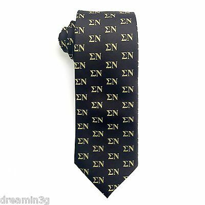 Sigma Nu Letter Design Tie   Brand New Product
