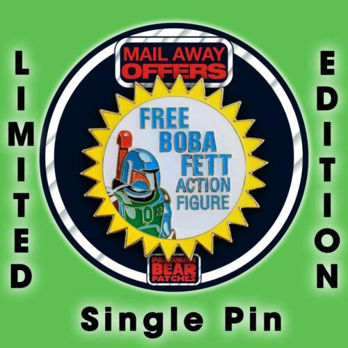 "Vintage Kenner STAR WARS""FREE BOBA FETT"" Action Figure Offer Enamel pin"