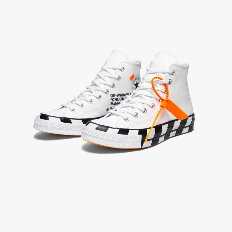 d42dba82db7dcd Converse Chuck Taylor All-Star 70s Hi Off-White Virgil Abloh Checkered Sole  6.5