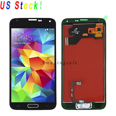 Replacement For Samsung Galaxy S5 i9600 G900A LCD Screen Digitizer + Home button, used for sale  Fremont
