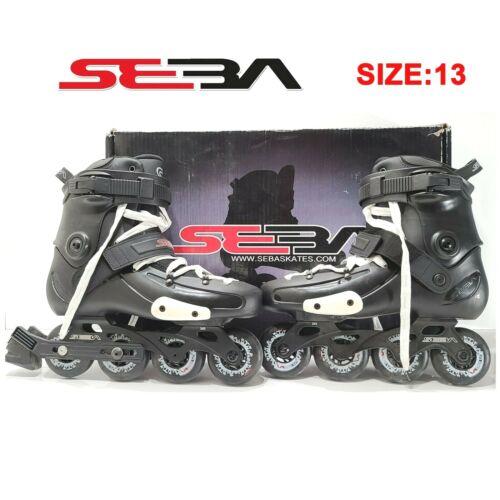 Seba FR FRX80 US Size 13 Rollerblade Inline Skates (Black)Men
