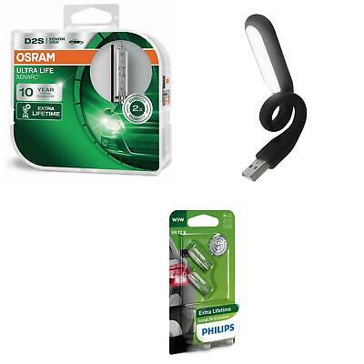 D2S  Ultra Life bis 10 Jahre Garantie* 2St OSRAM + W5W LongLife + USB Licht