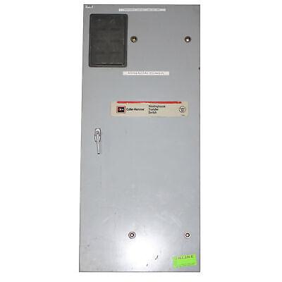 Cutler-hammer Westinghouse Mtvxkda40300esu Manual Transfer Switch 600v 300a