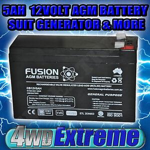 battery agm generator 12volt 5ah power supply sla general. Black Bedroom Furniture Sets. Home Design Ideas