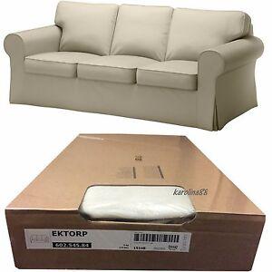 ikea ektorp 3 seat sofa cover tygelsjo beige slipcover