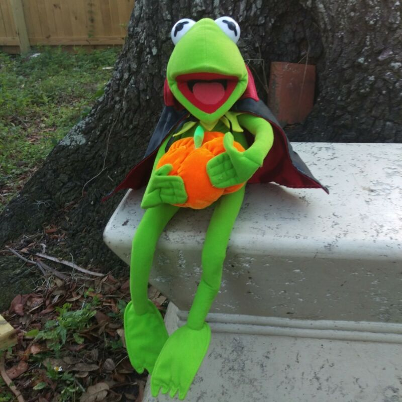 "Vintage Kermit The Frog 18"" Plush Halloween Nanco Poseable Stuffed Jim Henson"