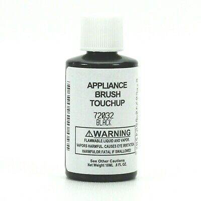 Appliance Paint Black (OEM Whirlpool 72032 Appliance Touch-up Paint with Brush, 0.6 Oz )