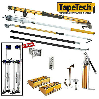 Tapetech Drywall Taping Tools Pro Full Set With Mudrunner - Free Stilts