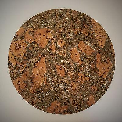 Kashmir Cork Turntable Mat - Audiophile Mat for Vinyl Record LP's - Pure Cork