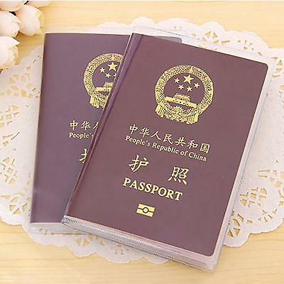 Novelty Plastic Passport Holder Cover Case Card Paper Document Storage Accessory (Novelty Passport)