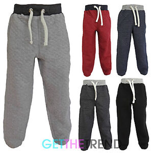 Boys-Toddlers-Quilted-Joggers-Kids-Cotton-Jogging-Pants-Trackie-Bottoms-1-13