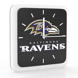 New 3 in 1 NFL Baltimore Ravens Home Office Decor Wall Desk Magnet Clock 6