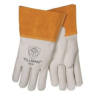 Tillman 1350 Top Grain Split Cowhide Mig Welding Gloves - Small