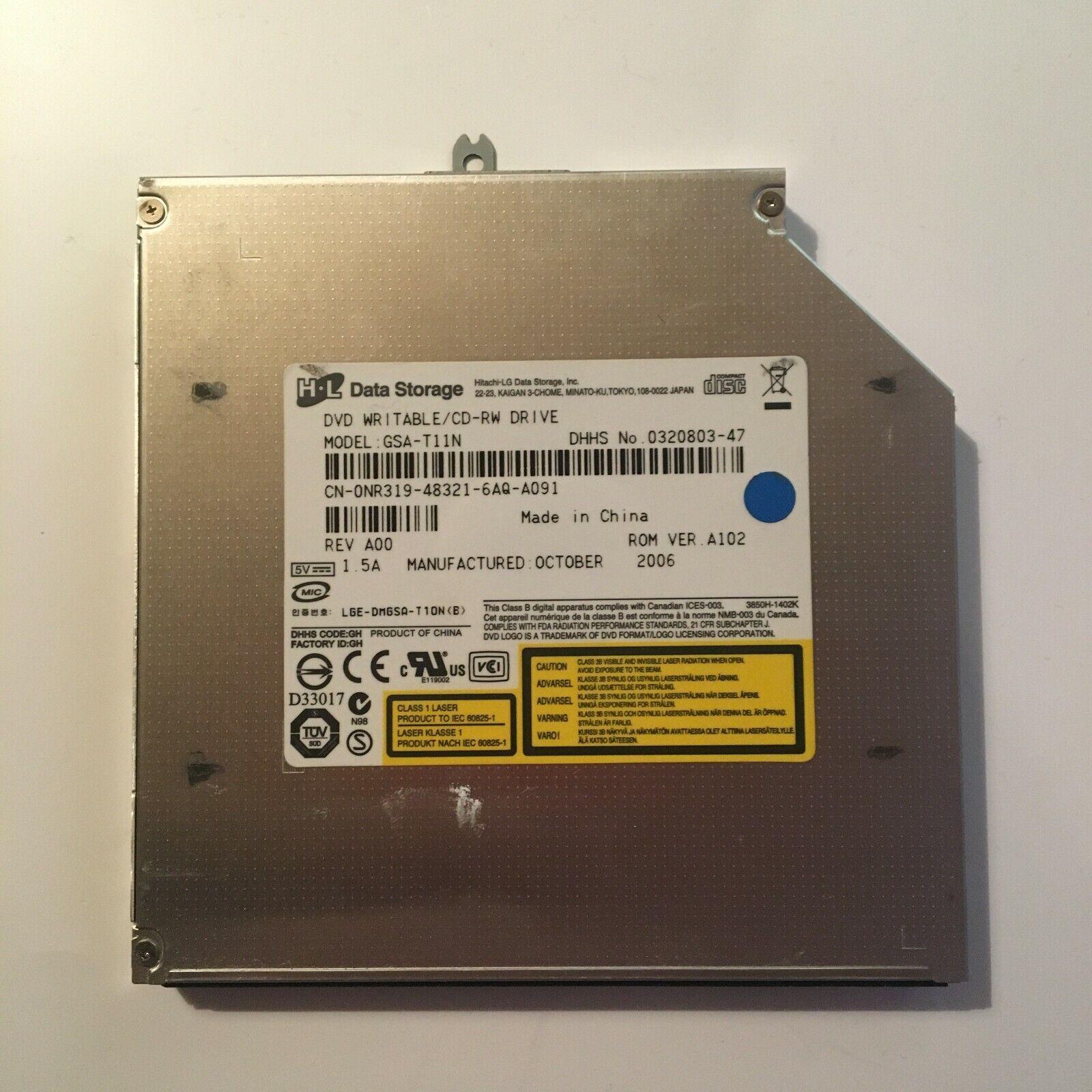 Graveur/lecteur cd et dvd ide interne data storage gsa-t11n pour pc portable