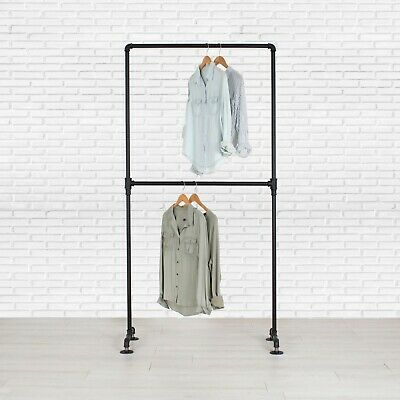 Industrial Pipe Double Row Clothing Rack by William Robert's (William Wear)