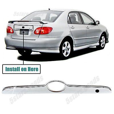 Chrome Trunk Molding (Chrome Rear Trunk Lift Molding Cover Trim For Toyota Corolla Sedan 2003-2008 )