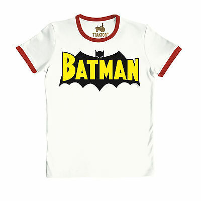 Retro - DC Comics - Superheld - Batman - Flügel T-Shirt, altweiß - TRAKTOR®