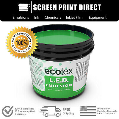 Ecotex L.e.d. - Textile Pure Photopolymer Screen Printing Emulsion - All Sizes